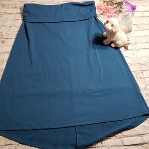 Eddie Bauer Blue High Low Skirt